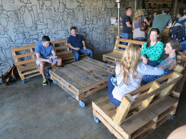 Culture Brewing Co Crate Seating and Table