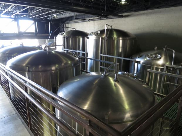 Mike Hess Brewing Fermenting Tanks