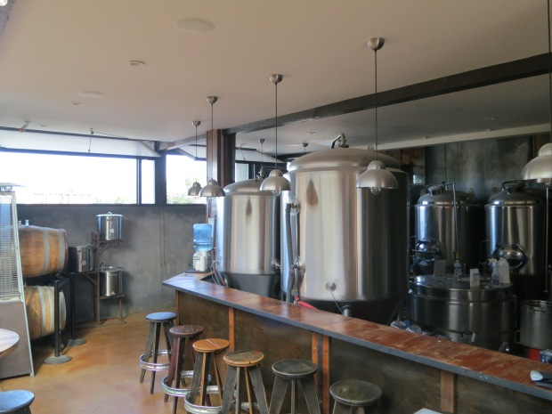 Thorn St Brewery Stools & Fermenting Tanks