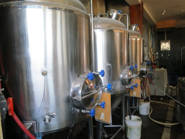 Thorn St Brewery Fermenting Tanks