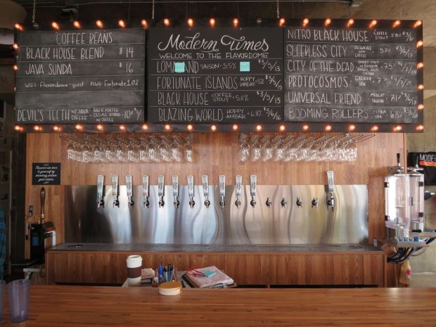 Modern Times Flavordome Taps and Bar Top
