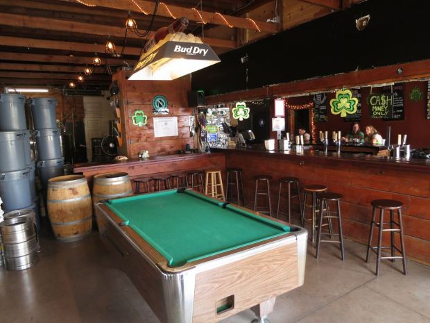 Poor House Brew Pool Table and Bar