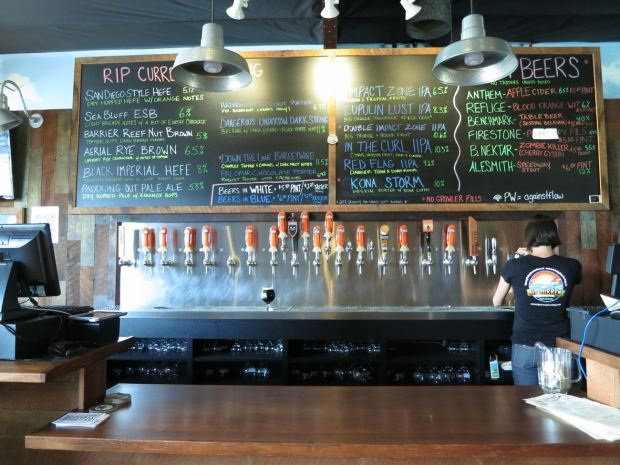 Rip Current Brewing Taps and Beer Board
