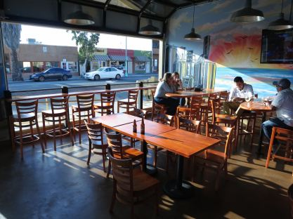 Rip Current Brewing Main Entrance Tables