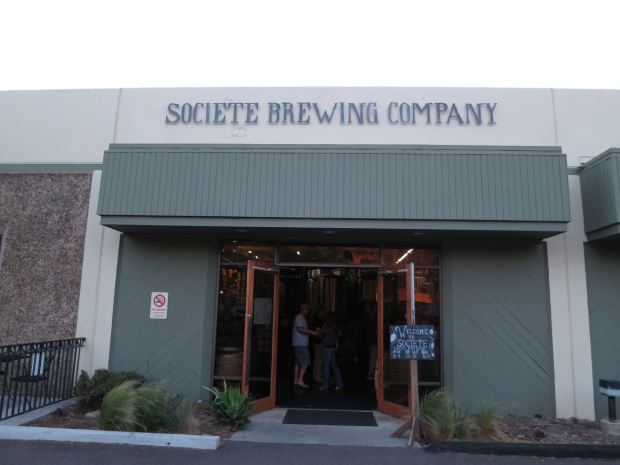 Front of Societe Brewing Company