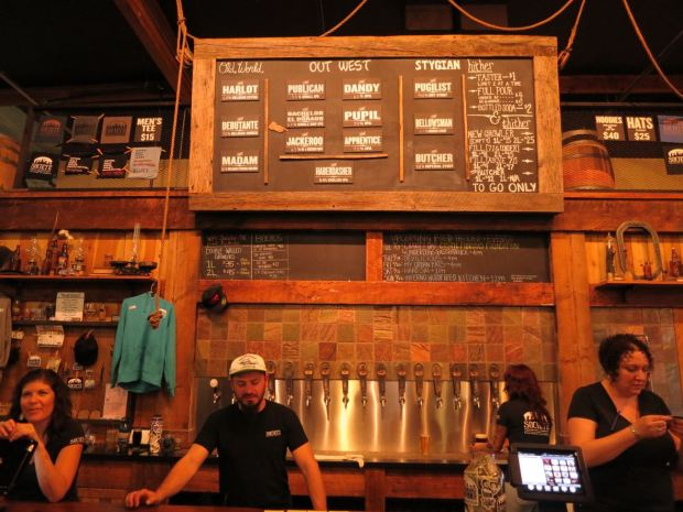 Societe Brewing Company Taps and Beer Board