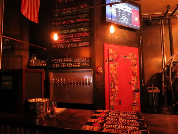 South Park Brewing Taps and Bar Top