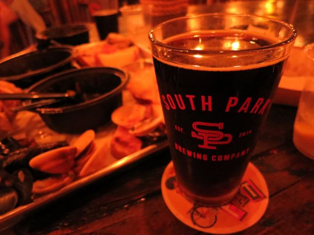 South Park Brewing Beer Glass