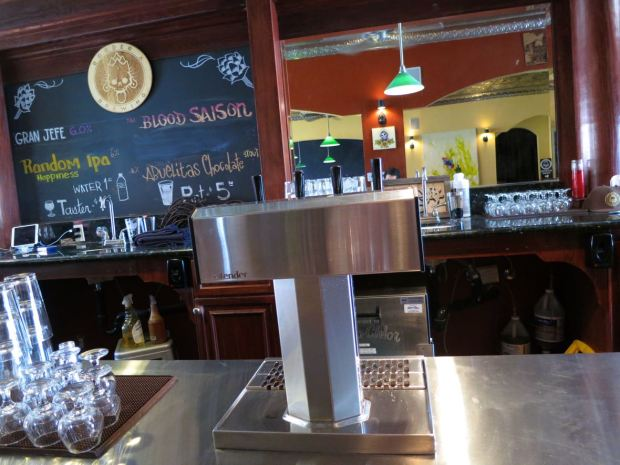Border X Brewing Taps and Beer Board