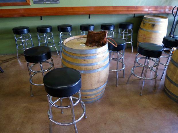 Council Brewing Company Barrel Table and Stools
