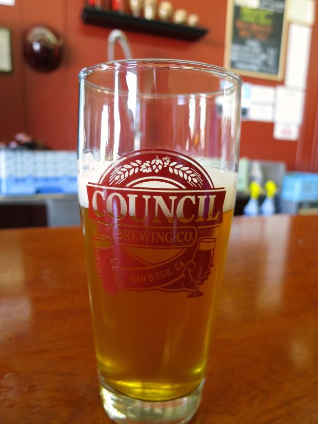 Council Brewing Company Beer Glass