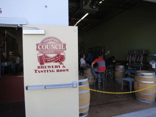 Council Brewing Company Back Entrance