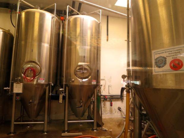 El Segundo Brewery Fermenting Tanks