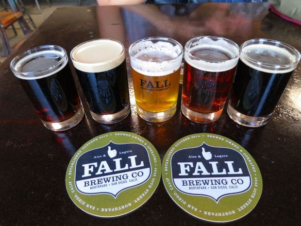 Fall Brewing Company Tasting Glasses and Coaster