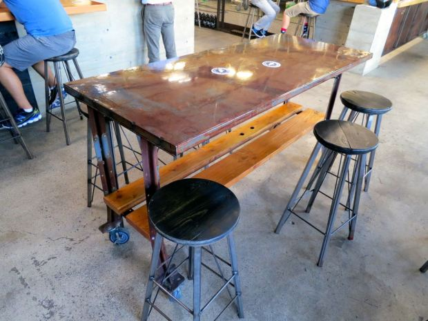Fall Brewing Company Table and Stools