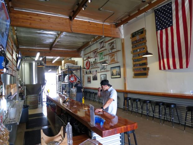 Helms Brewing Company View from Bar
