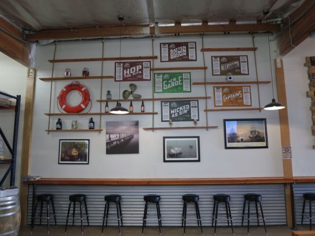 Helms Brewing Company Wall and Stools