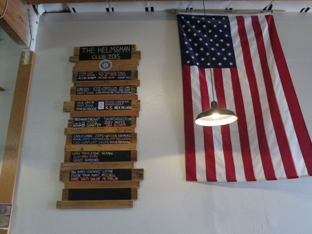 Helms Brewing Company Club and Flag