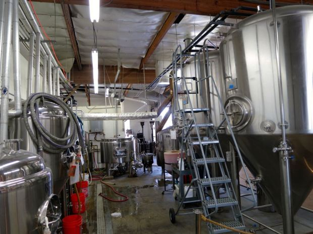 Helms Brewing Company Fermenting Tanks