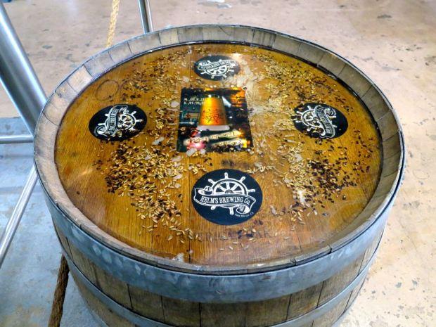 Helms Brewing Company Decorative Barrel
