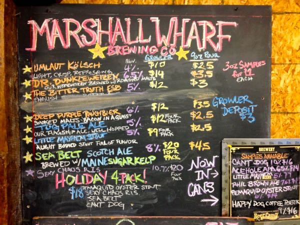 Marshall Wharf Brewing Co Beer Sign