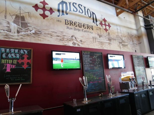 Mission Brewery Beer Taps