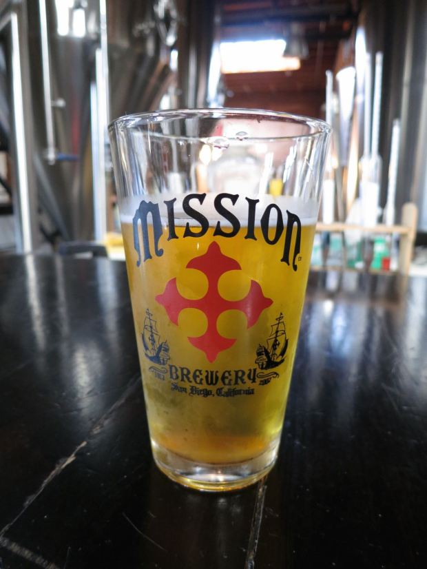Mission Brewery Beer Glass