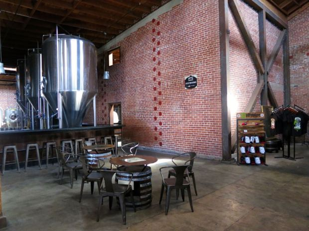 Mission Brewery Brick Wall