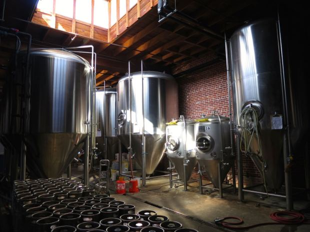 Mission Brewery Fermenting Tanks