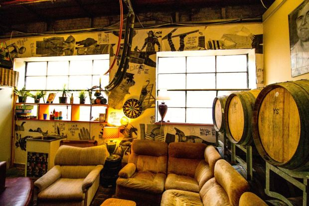Moon Dog Brewing Sofas and Barrels