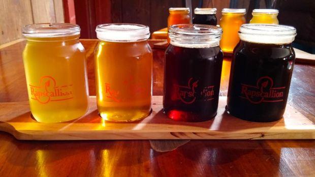 Rapscallion Brewery Beer Flight