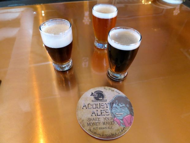Acoustic Ales Coaster and Tasters