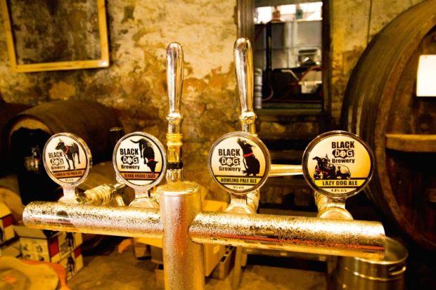 Black Dog Brewery Beer Taps