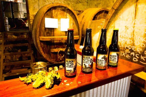 Black Dog Brewery Beer Bottles