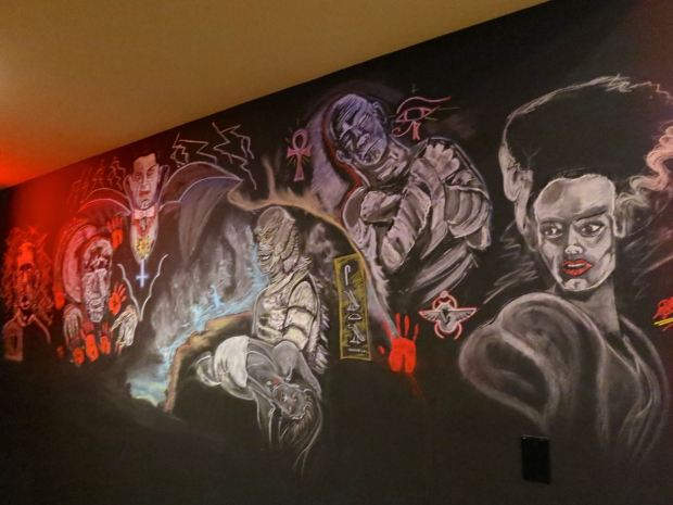 Phantom Carriage Brewery Chalk Art