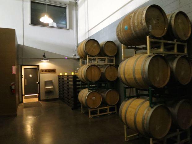 Phantom Carriage Brewery Bathroom Barrels