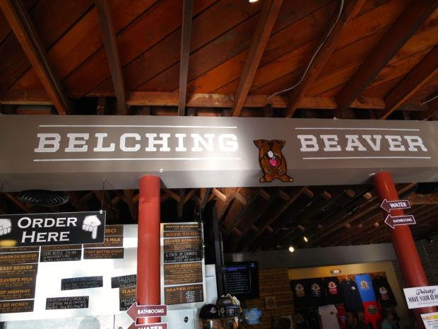 Belching Beaver North Park Sign