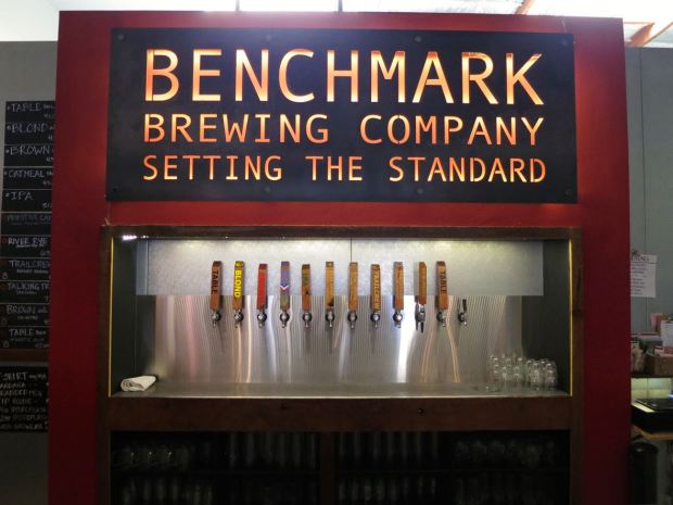 Benchmark Brewing Co Beer Taps