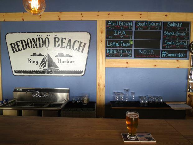 King Harbor Brewing Waterfront Tasting Room Beer Board