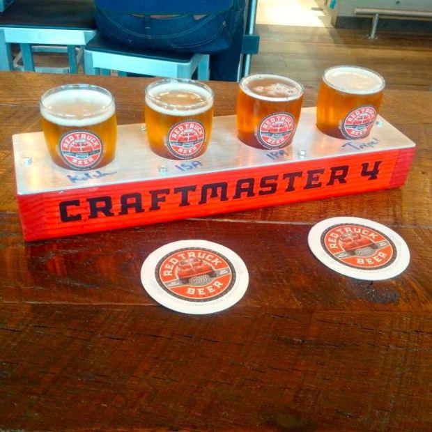 Red Truck Beer Company Flight