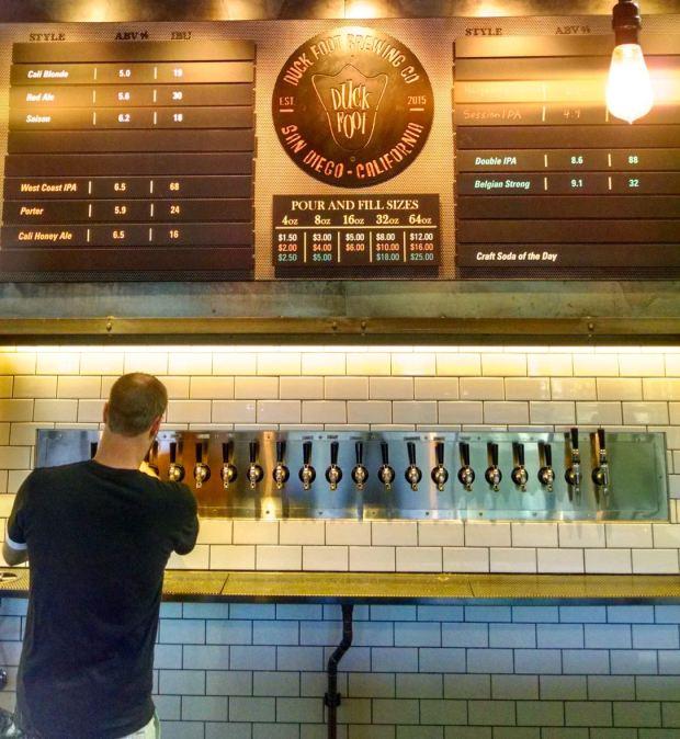 Duck Foot Brewing Company Beer Taps