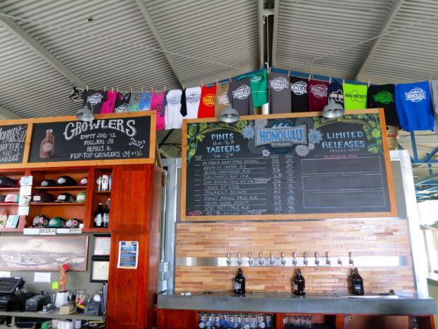 Honolulu Beerworks Beer Taps