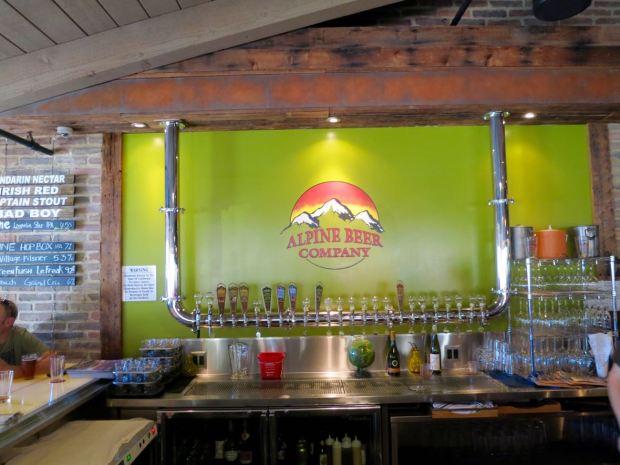 Alpine Beer Company Beer Taps