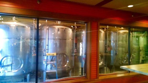 Mammoth Brewing Company Fermenting Tanks