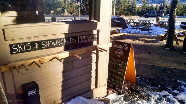 Mammoth Brewing Company Ski and Snowboard Rack