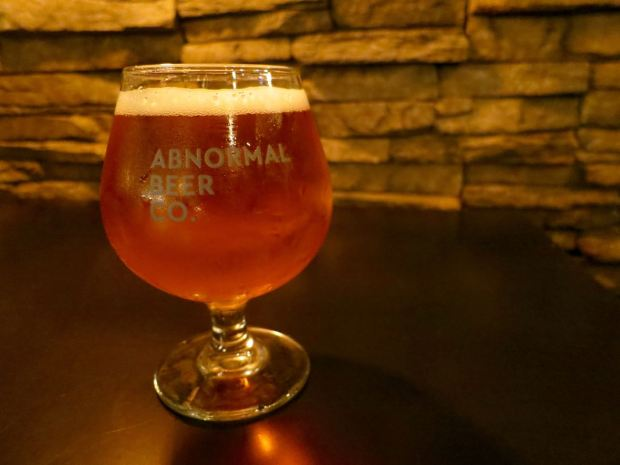 Abnormal Beer Company Tulip Beer Glass