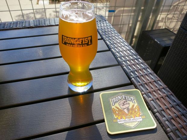 Iron Fist Brewing Barrio Logan Beer Glass and Coaster