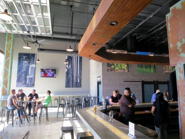 Iron Fist Brewing Barrio Logan View From Side Bar