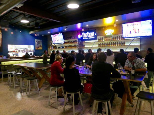 HopSaint Brewing Company Bar Area