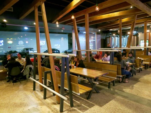 HopSaint Brewing Company Seating Area
